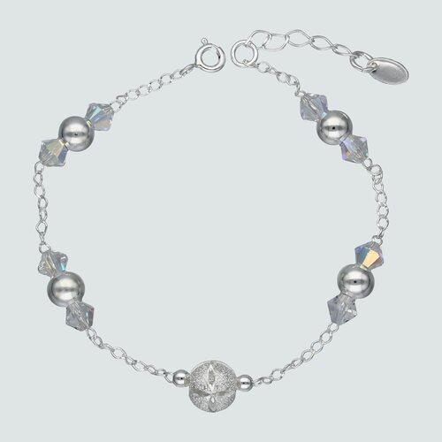 Pulsera Esfera Cristal Hecho con Swarovski® Tornasol