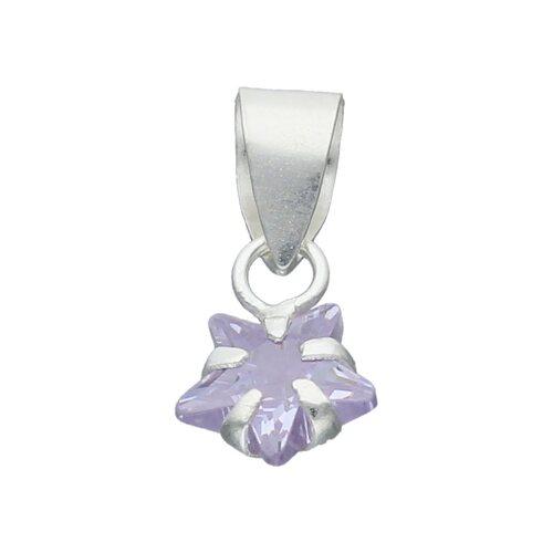 Colgante Estrella Circón Violeta 6 mm