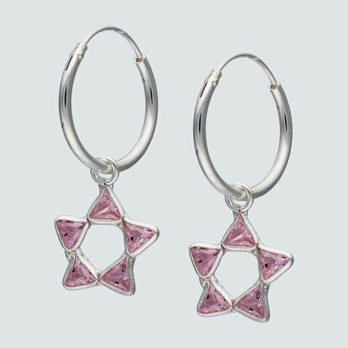 Argolla Estrella Circones Rosa Francia 14 mm