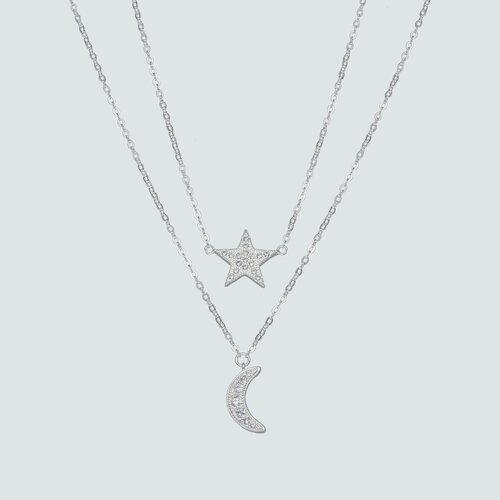 Collar Doble Media Luna Estrella Circones