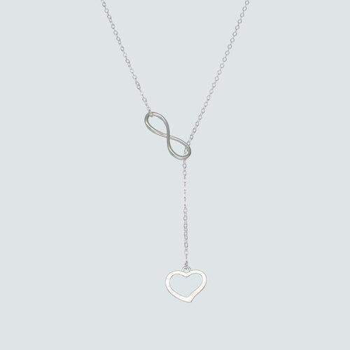 Collar Ajustable Infinito Corazón