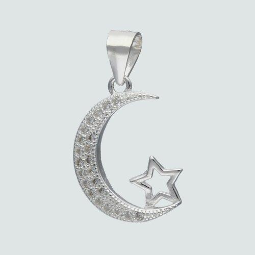 Colgante Media Luna Estrella Circones