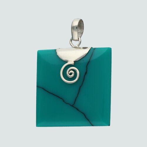 Colgante Crisocola Cuadrado con Espiral