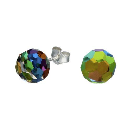 Aro Esfera Cristal Facetado Tornasol 8 mm