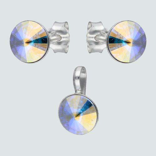 Conjunto Hecho con Cristal Swarovski® Tornasol 6 mm