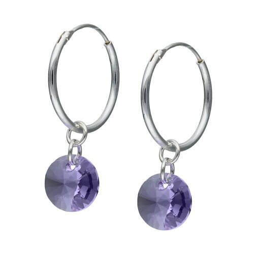 Argolla Cristal Hecho con Swarovski® Violeta 16 mm