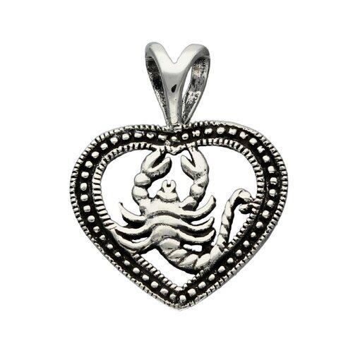Colgante Corazón Signo Escorpio