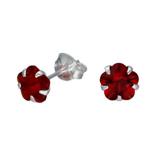 Aro Flor Circón Rubí 6 mm