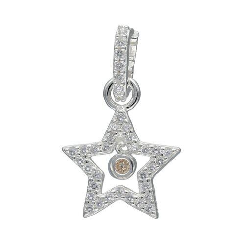 Colgante con Broche Estrella Circón Ámbar