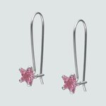 Aro Estrella Circón Rosa Francia 6 mm