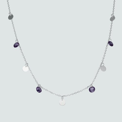 Collar Cristales Hecho con Swarovski® Morado y Circulos