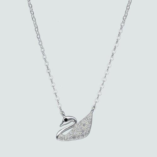 Collar Cisne Circón Ónix