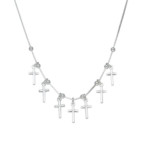 Collar Cruces y Esferas