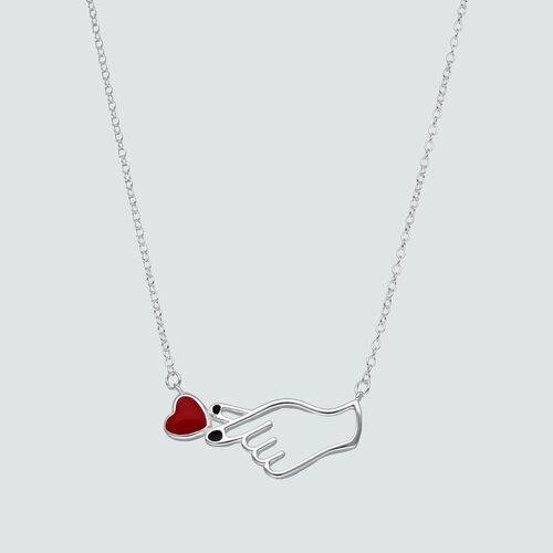 Collar Símbolo de Amor Esmaltado