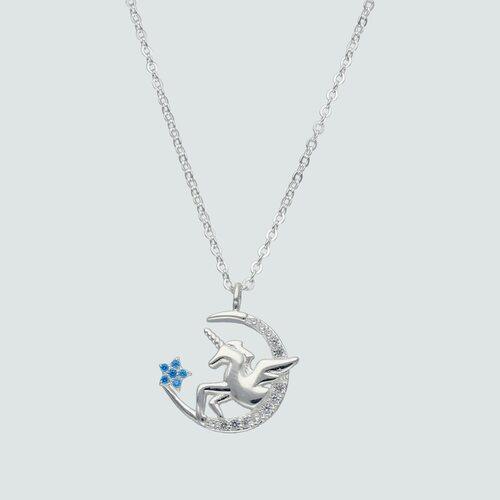 Collar Unicornio y Estrella Circones Agua Marina