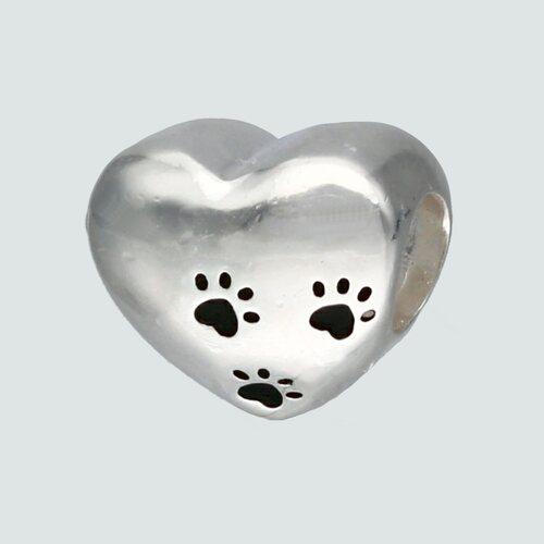 Colgante Charm Corazón Patitas