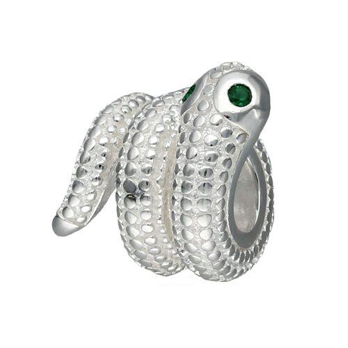 Colgante Charm Serpiente Circones Esmeralda