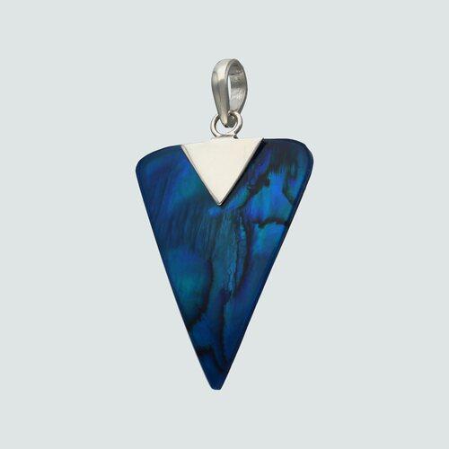 Colgante Triangulo Abalon Azul