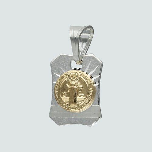 Colgante San Benito con Oro