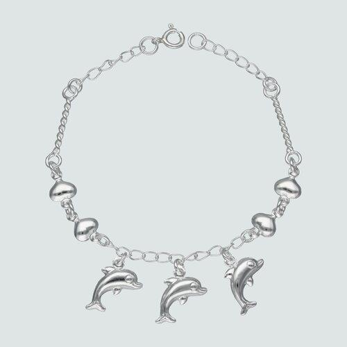 Pulsera Delfines y Corazones