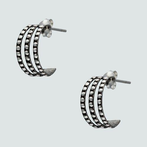 Semi Argolla Triple con Puntos 15 mm