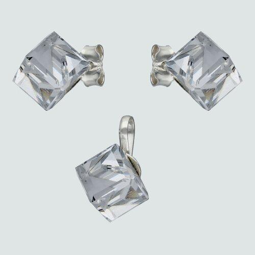 Conjunto Cubo Hecho con Cristal Swarovski® 6x6 mm