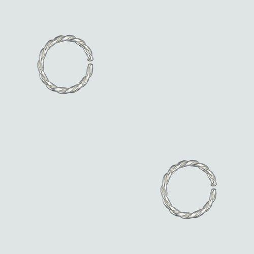 Piercing Argolla Entorchada 10 mm