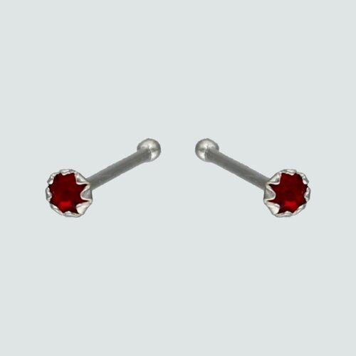 Piercing Circón Rubí 2 mm