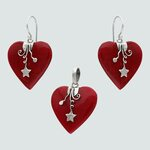 Conjunto Corazón Jaspe con Estrella