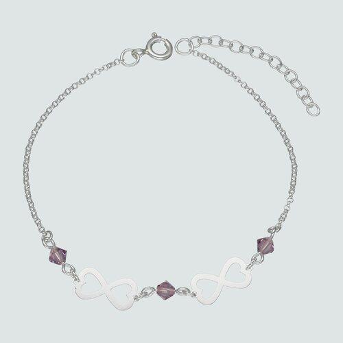 Pulsera Infinitos Cristales Rosa