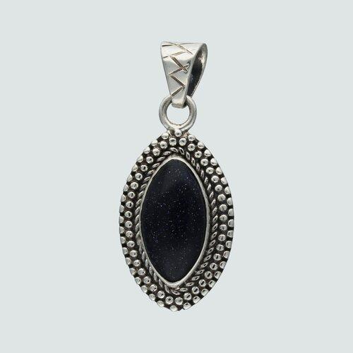 Colgante Ovalo Piedra Luna Azul