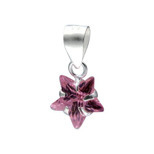 Colgante Estrella Circón Rosa Francia 8 mm