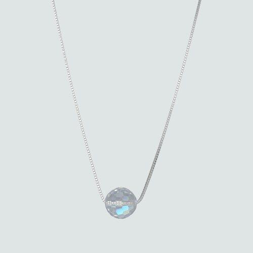 Collar Esfera Hecho con Cristal Swarovski® Tornasol