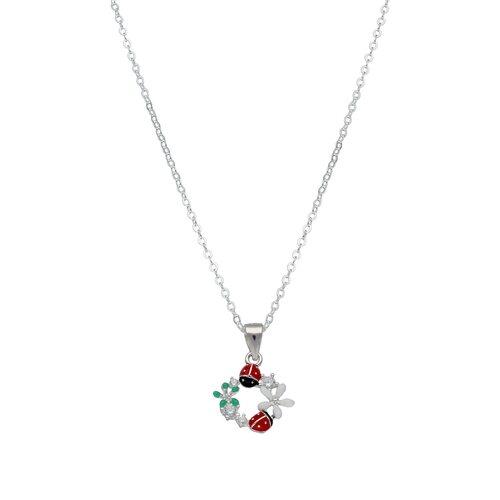 Collar Chinita Flores Esmaltadas Circones