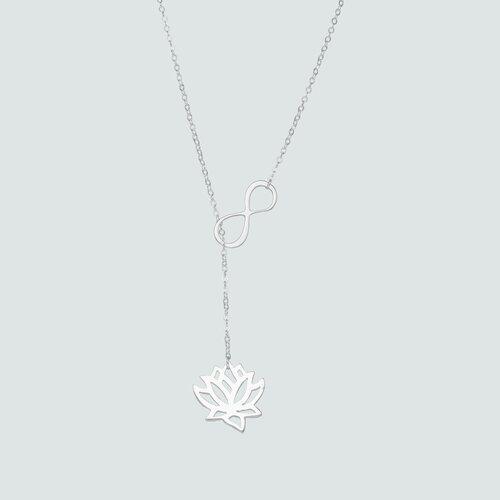 Collar Ajustable Infinito Flor de Loto