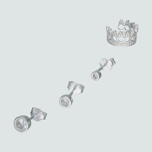 Set Aros Desigual Corona y Circones