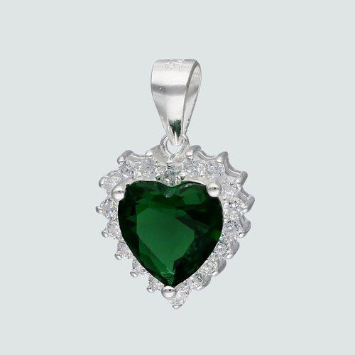 Colgante Corazón Circón Esmeralda