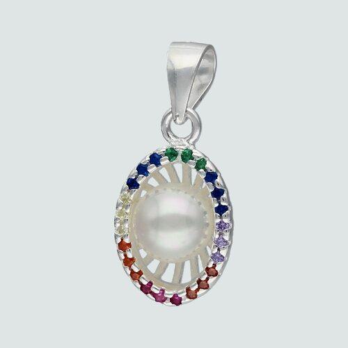 Colgante Ovalado Perla Circones Multicolor