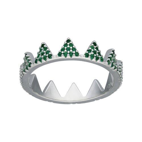 Anillo Corona Circones Esmeralda