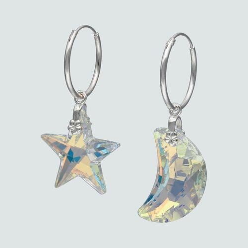 Argolla Desigual Media Luna Estrella Hecho con Cristal Swarovski® 15 mm