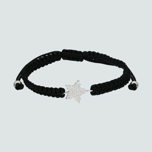 Pulsera Ajustable Trenzada Estrella con Circones