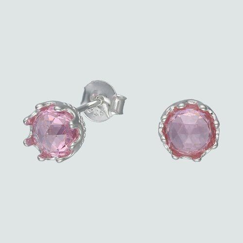 Aro Corona Circón Rosa Francia 7 mm