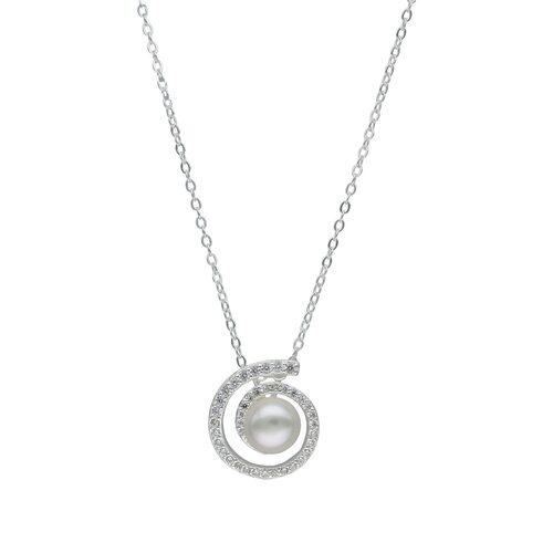 Collar Espiral Circones y Perla