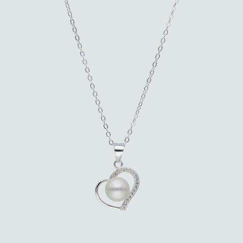Collar Perla y Corazón Circones
