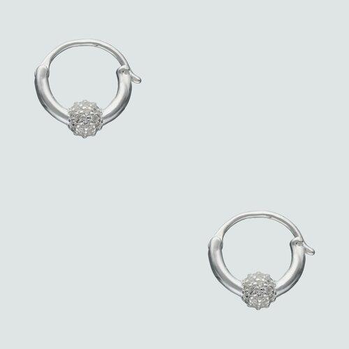 Argolla Huggie Esfera Circones 14 mm