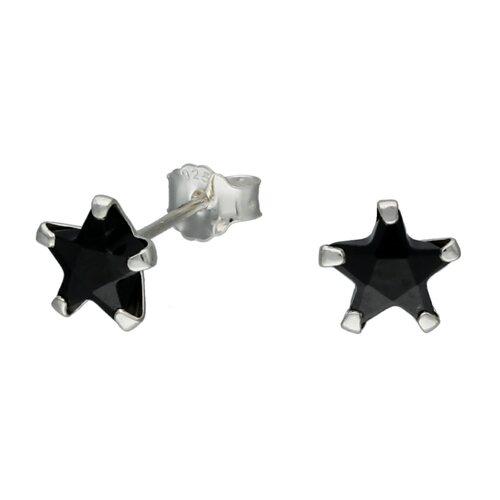 Aro Estrella Circón Ónix 6 mm