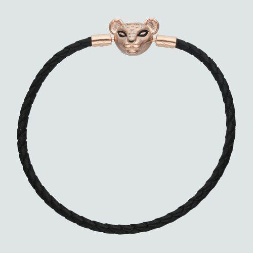 Pulsera para Charm Cuero Negro Leona Circones 20 cm
