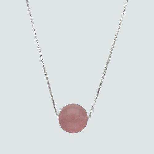 Collar Esfera Cuarzo Rosa