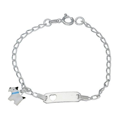 Pulsera Piocha Corazón Cartier Perro Esmaltado 16 cm