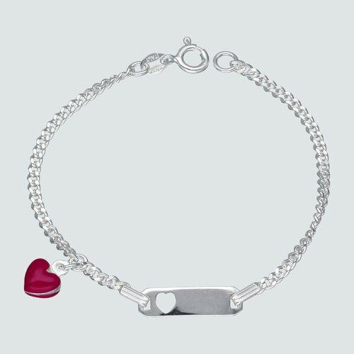 Pulsera Piocha Corazón Esmaltado 16 cm